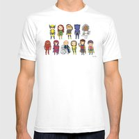 Super Cute Heroes: X-Men Mens Fitted Tee White SMALL