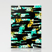 Flowery dashes Stationery Cards