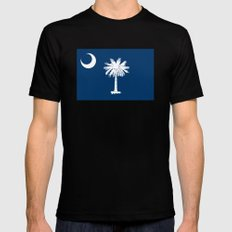 Flag of South Carolina - Authentic High Quality Image SMALL Black Mens Fitted Tee