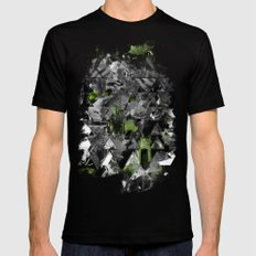Abstractness Mens Fitted Tee Black SMALL