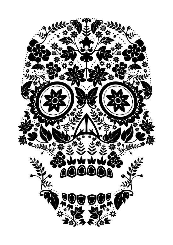 Day of the Dead Skull No.13 Art Print