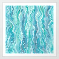 Ocean Melt Art Print