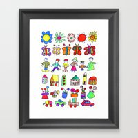 Children At Home Framed Art Print