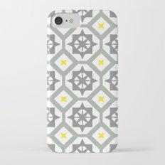 Carina - grey yellow iPhone 7 Slim Case