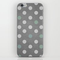 Concrete & PolkaDots iPhone & iPod Skin