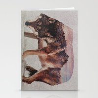 wolf Stationery Cards featuring Wolf by Andreas Lie