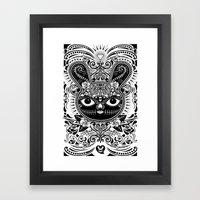 Day Of The Dead Bunny Ce… Framed Art Print
