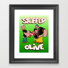 Stuffed Olive Framed Art Print