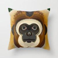 Gibbon Throw Pillow