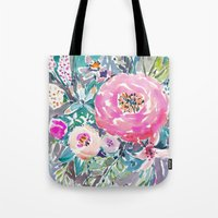 Wild Peony Floral Tote Bag