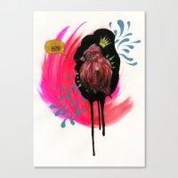 Fat Bird Demands Cake Canvas Print