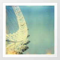 London Eye, Polaroid Art Print