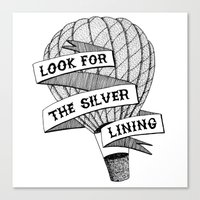 Look for the silver lining Canvas Print