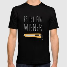 The Wiener Schnitzel Fail Mens Fitted Tee Black SMALL
