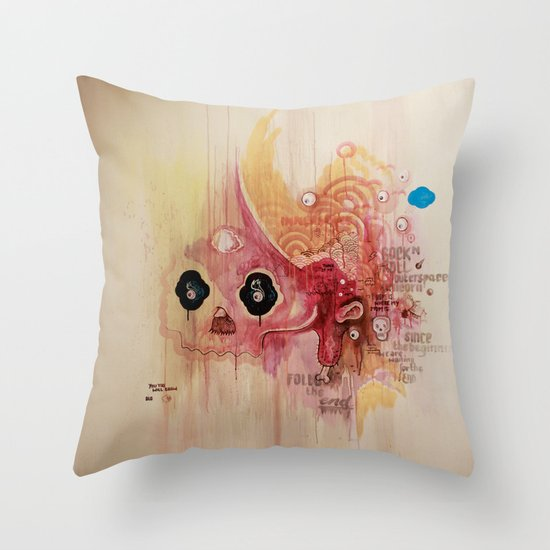 Outerspace Rock`n´Roll Unicorn Throw Pillow
