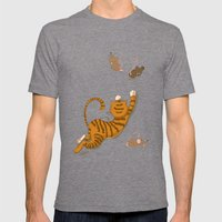 Cat and Mouse Mens Fitted Tee Tri-Grey SMALL