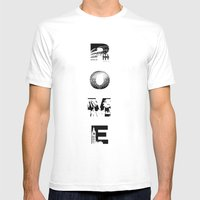 ROME Mens Fitted Tee White SMALL