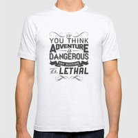 Adventure Mens Fitted Tee Ash Grey SMALL