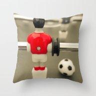 Table Football 01A - Def… Throw Pillow