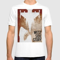 west side story SMALL Mens Fitted Tee White