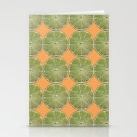 Lime Fruit Photo Print Stationery Cards