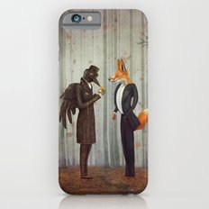 Raven and Fox in  a dark forest looking at the watch Slim Case iPhone 6s