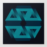 Impossible snowflake Canvas Print