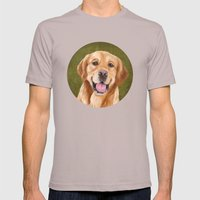 Golden Retriever Mens Fitted Tee Cinder SMALL