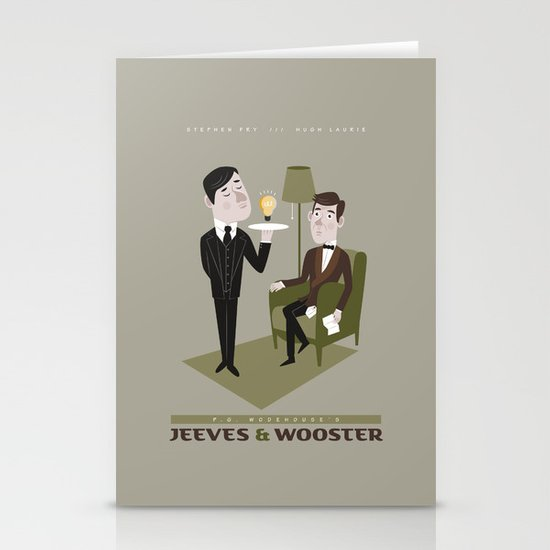 Jeeves & Wooster Stationery Card