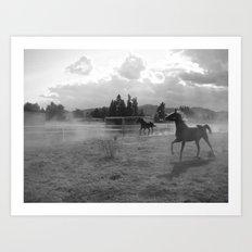 Horses Running Art Print