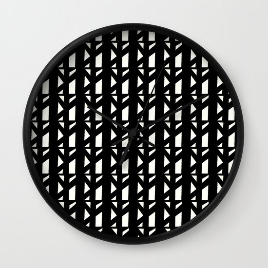 Marsman Black & White Pattern Wall Clock