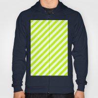 Diagonal Stripes (Lime/White) Hoody