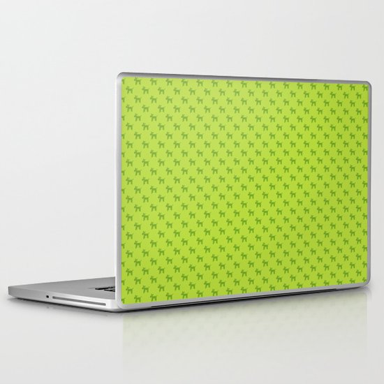 Dogs-Green Laptop & iPad Skin