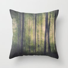 In the woods of Mournton Combs Throw Pillow