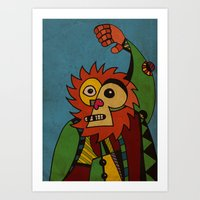 Monkey in Sunday Best Art Print