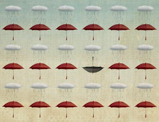 embracing the rain pattern Canvas Print