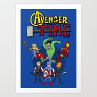 Avenger Time Art Print