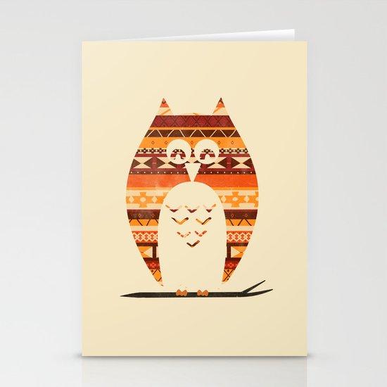 Native Owl Stationery Card
