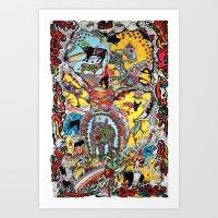 EL CIELO DE LOS TORITOS Art Print