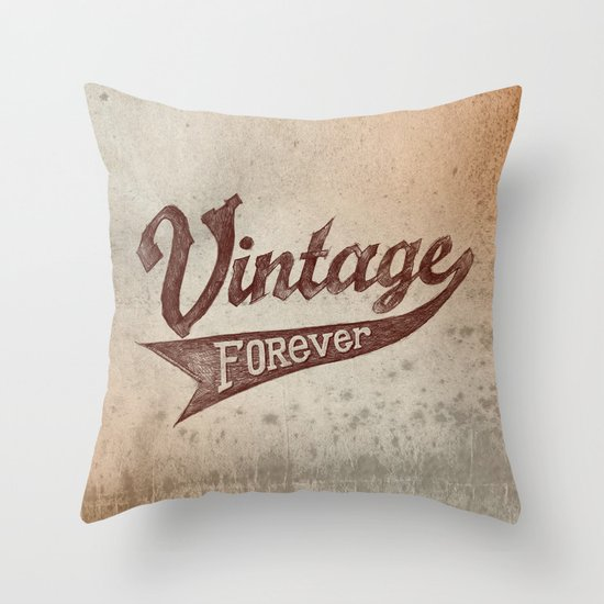 Vintage Forever Throw Pillow