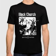 Black Church Party Satan Mens Fitted Tee Black SMALL