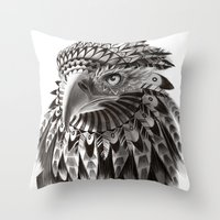 Black And White Ornate R… Throw Pillow