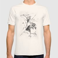 Line 1 Mens Fitted Tee Natural SMALL