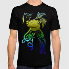 Psychoactive Frog Mens Fitted Tee SMALL Black