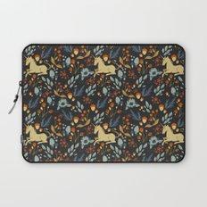 Unicorn autumn forest pattern Laptop Sleeve