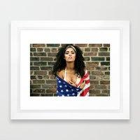 GRZNYC: AMERICANA #1 Framed Art Print