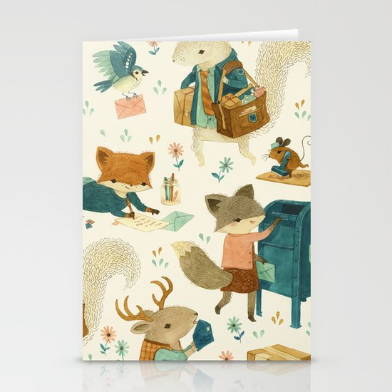 Critter Post Stationery Card