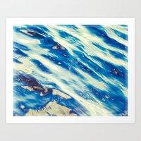 painting the blues Art Print