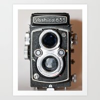 Yashica Vintage Camera Art Print