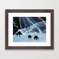 Behind The Stars Framed Art Print